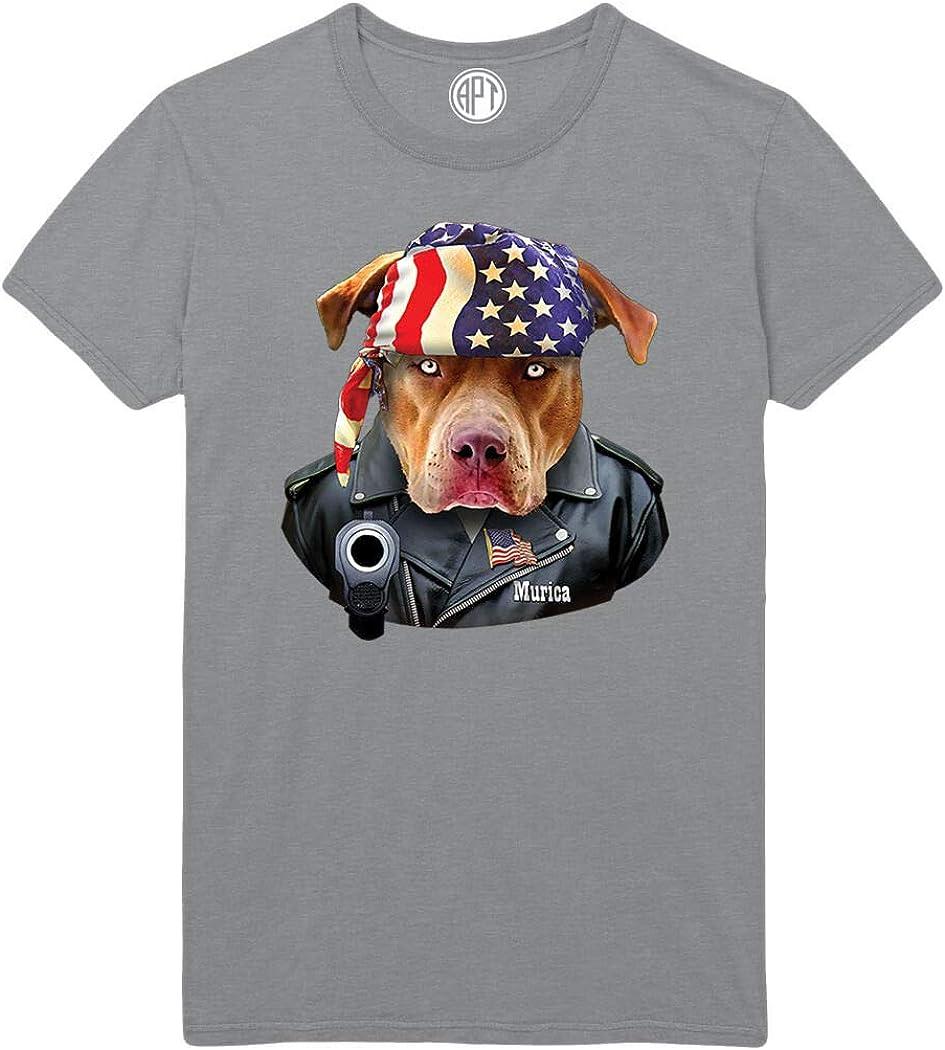 Merica American Putbull Printed T-Shirt