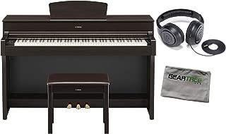 Yamaha YDP184R Dark Rosewood 88-Key Digital Piano w/Bench, Headphones, and Cloth