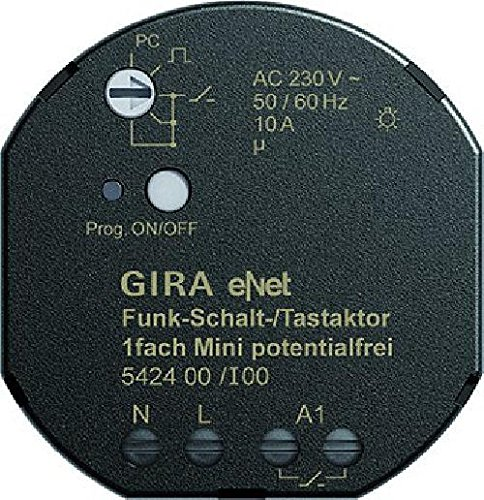 Gira 542400 Funk Schalt Tastaktor Mini 1-Fach Pot frei eNet