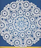 Royal Medallion Lace Round Paper Doilies, 6-Inch, Pack of 28 (B23003)