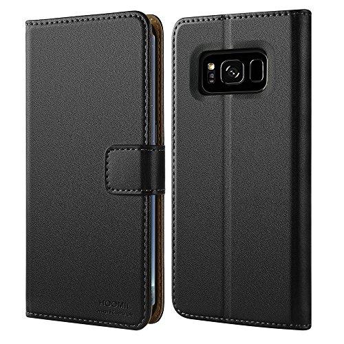 HOOMIL Coque Samsung S8 Plus, Housse en Cuir Premium Flip Case Portefeuille Etui Coque pour Samsung Galaxy S8 Plus (H3060, Noir)