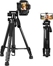 "Tripod for Camera Canon/Nikon/Sony, GooFoto 58"" Lightweight Aluminum Camera Tripod for DSLR, Cell Phone Tripod for iPhone/Samsung"