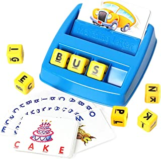 Matching Letter Game, Spelling Words Toy, Word Spelling Game Alphabet Cards Machine Early Educational Toy for Kids 3 Years Old and Up