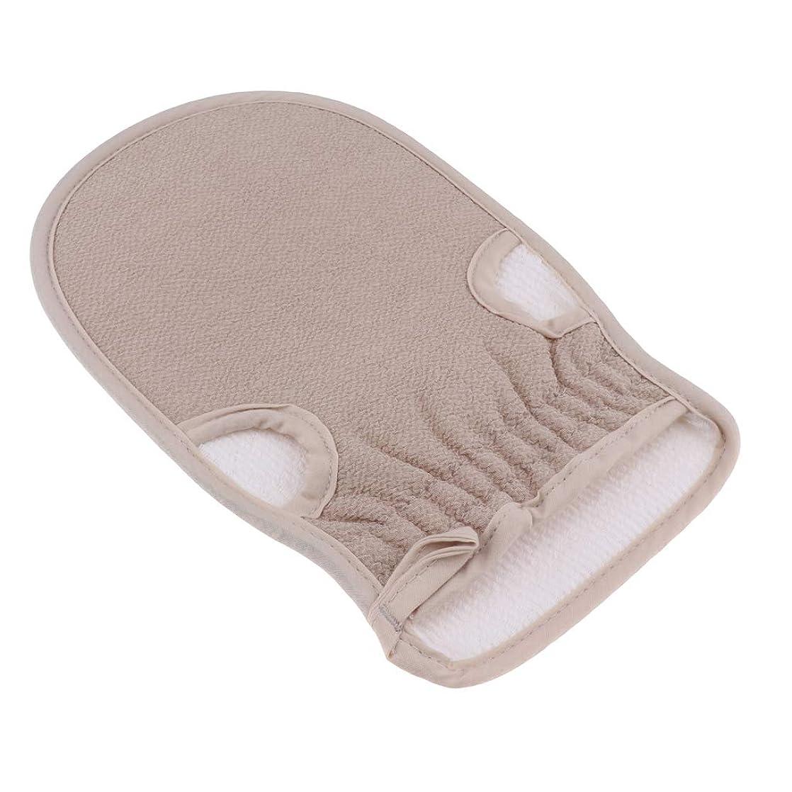 素子変装ピカリング全4色 あかすり 浴用手袋 ボディタオル 垢すり手袋 ボディタオル 入浴用品 約23x14.5cm - グレー