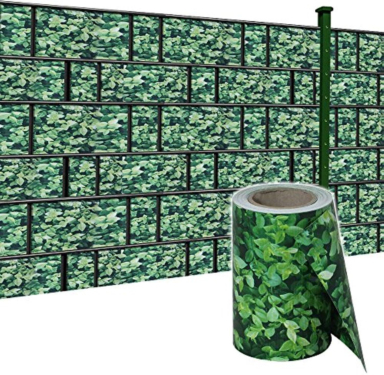 HENGMEI 140m x19cm Sichtschutzfolie PVC Sichtschutzstreifen mit Zaunfolie Befestigungsclipse Windschutz Stabmattenzaun Gartenzaun Blickdicht für Gartenzaun, Balkon (Buchsbaum, 140mx19cm)
