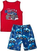 Baby Boys Girls Clothes Shark Doo Doo Doo Print Summer Cartoon Sleeveless Outfit Sets Tops and Short Pants 6M-2T
