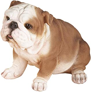 english bulldog yard statue