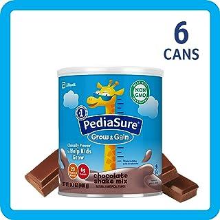 美国雅培小安素 Pediasure Grow & Gain儿童营养奶昔 巧克力味 6罐装(400g*6)
