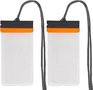 HLD Mobil vattentät väska 2 st Vattentät telefonpåse med snodd torktäcke transparent och dammsäker surfväska lämplig för s...
