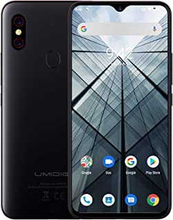 UMIDIGI F1 SIMフリースマートフォン Android 9.0 5150mAh 大容量バッテリー 18W高速充電 6.3インチ FHD+ 大画面 128GB ROM + 4GB RAM Helio P60オクタコア 16MP+8MPデュアルリアカメラ 技適認証済み 顔&指紋認証 auキャリア不可(F1, ブラック)