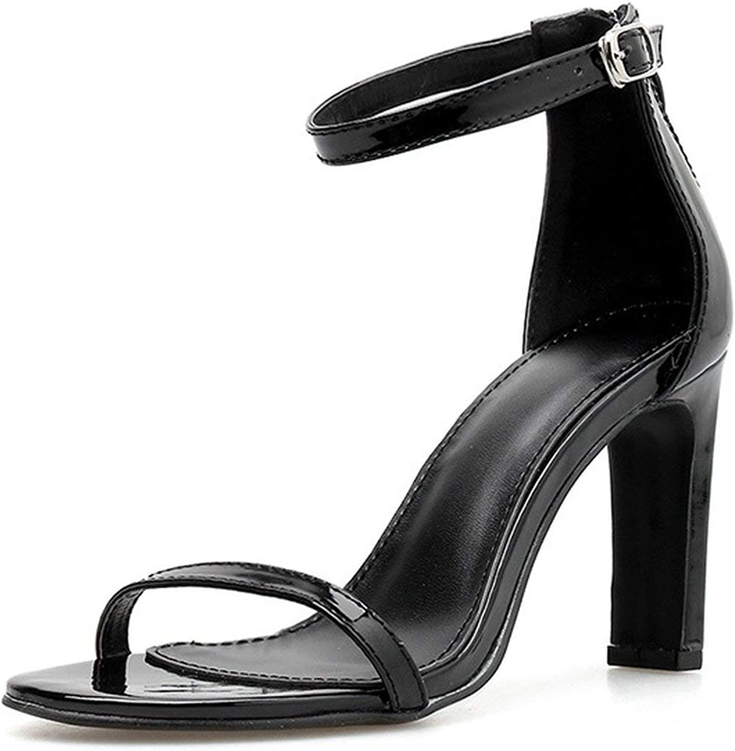 Sandals Women 2019 Summer Women's shoes New Women's shoes with Sexy Straps, Super High Heel, Open Toe and Thick Heel Sandals