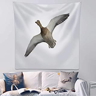 Hitecera Female Mallard Duck Flying Tapestry Wall Hanging,116769 Wall Art for Bedroom Decor,59.1x59.1inch