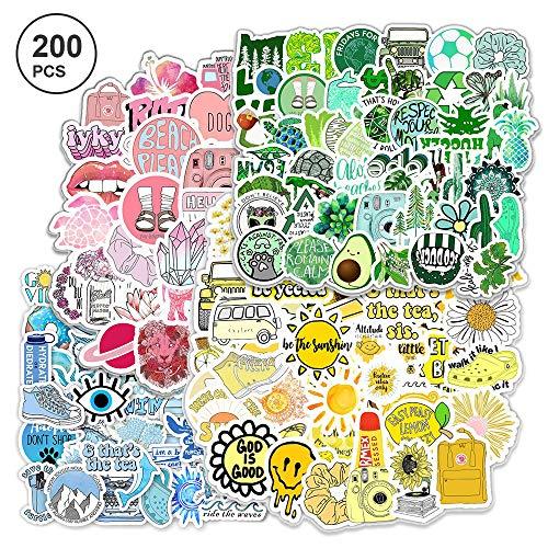 200pcs Süßer Aufkleber Mädchen VSCO Girl Stickers Wasserdicht für Wasserflaschen Laptop Skateboard Auto Motorrad Fahrrad PS4 Koffer Snowboard iPhone……
