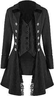 Coat Tailcoat Jacket Gothic Frock Coat Uniform Costume Praty Outwear Men