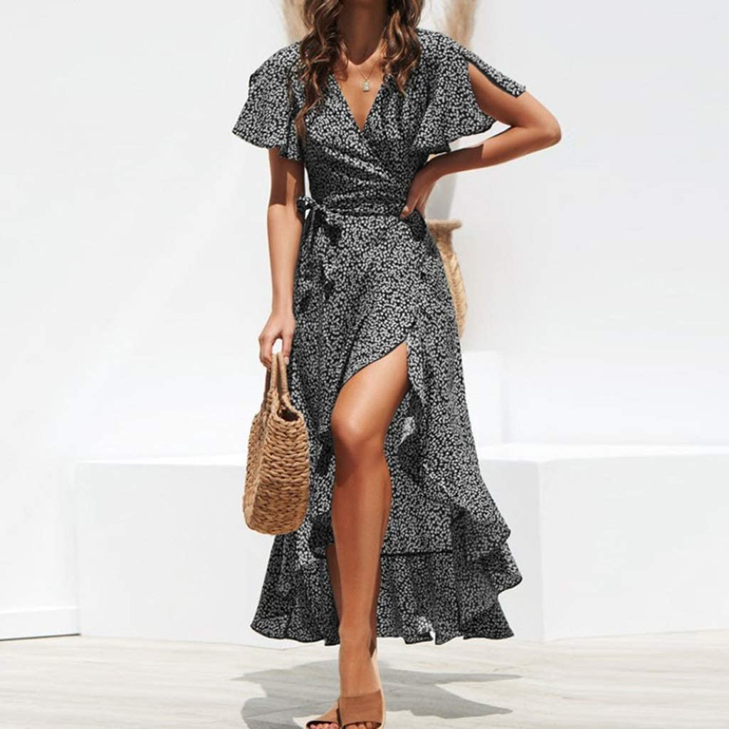 TJLSS Summer High order Beach Dress Women's Floral Chiffon Long Print Courier shipping free shipping