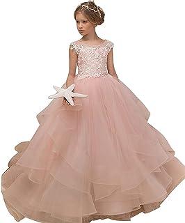 4a8ba61e66253 Enfant Fille Robe de Soirée Cérémonie Robe de Demoiselle d honneur Mariage  Robe de Mariee