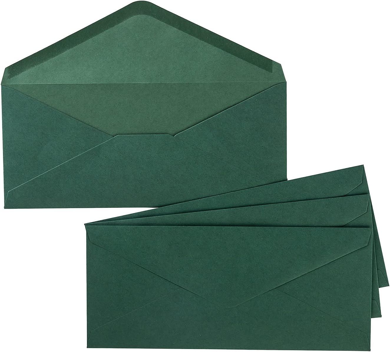 50 Pack 5 ☆ popular #10 Sale Business Envelopes Envelope Flap Invoices V Standard