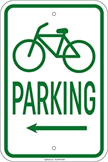 Bicycle Parking w/left arrow with Symbol 8