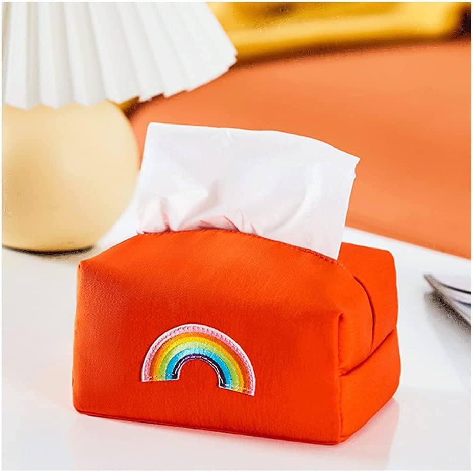 Cute 4 years warranty Fabric Tissue Holder with Color Matching Coffe Credence Living Room