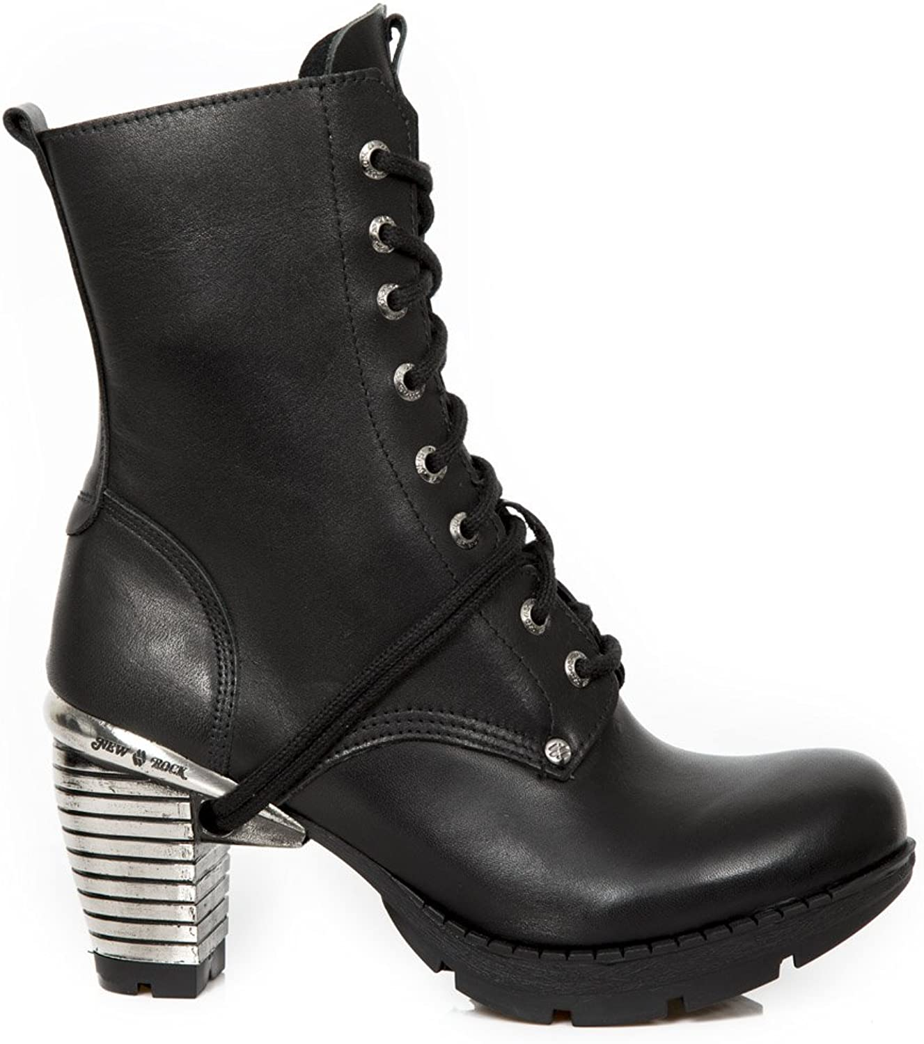 New Rock Womens M.TR001X-S3 Leather Boots