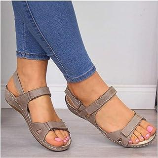 XIEZI Sandales Femme d'extérieur Pantoufles d'été antidérapantes Chaussures pour Piscine Plage Sandales Plates Sandales Bo...