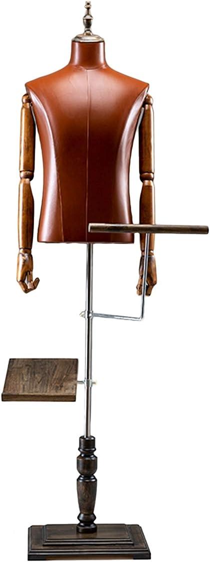 Manichino uomo forma del vestito manichino maschile con porta scarpe e pantaloni, base in legno, 1,7m B08X6L9QK6
