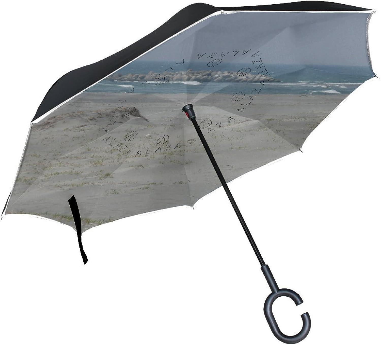 Countriy Japan Hamamatsu Beach Ingreened Umbrella Large Double Layer Outdoor Rain Sun Car Reversible Umbrella