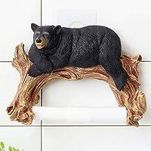 Yllang Cute Bear Figurine Dierlijke Standbeeld Wall Opknoping Tissue Holder Washroom Muur Decor van het Huis Roll Paper