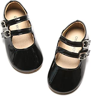 Toddler/Little Girls Mary Jane Ballerina Flats Shoes Slip-on School Party Dress Shoes
