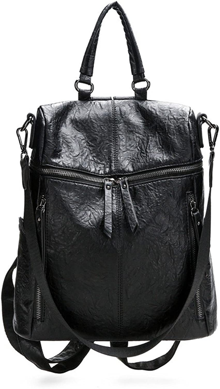 Wangkk Damen Tasche Elegante Schultertasche Pu Damen Rucksack Tasche, Schwarz B07NTRXN56  Neueste Technologie