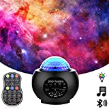 Laser Starry Night Light Projector for Bedroom , Bluetooth Music Speaker Remote Control ,Galaxy Projector Sky Lights for Bedroom Nebula Ocean Wave ,Galaxy Night Light Home Theatre Holiday Ambiance