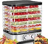 Food Dehydrator Machine, 8-Tray Fruit Dehydrators with Temperature Control(95ºF-158ºF) Knob Button for Jerky/Meat/Beef/Fruit/Vegetable, 400 Watt, BPA Free
