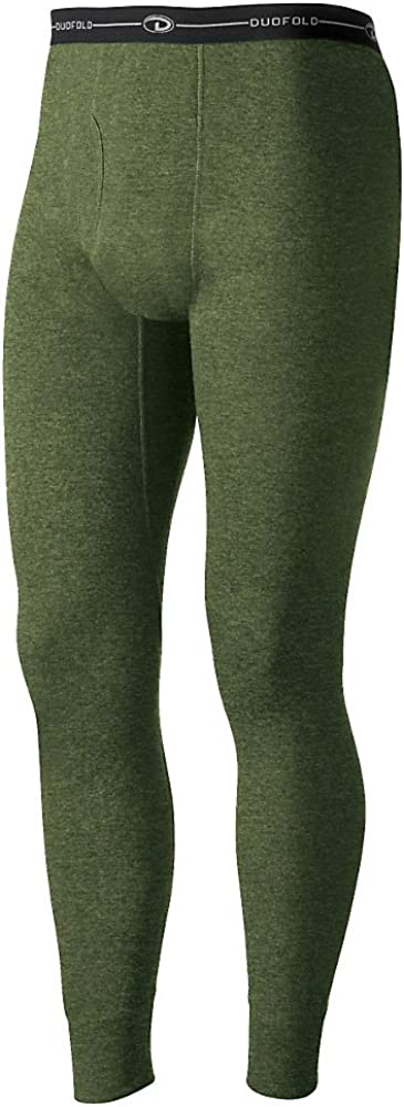 Duofold by Champion Men's Originals Wool-Blend Thermal Pants_Olive Heather