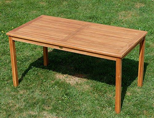 ASS Teak Set: Gartengarnitur Gartentisch 150x80 cm + 1 Bank 150 cm für 3 Personen + 2 Sessel Serie JAV-Alpen - 7