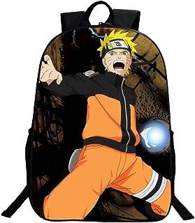 HMJZ Mochila Bolsas PersonalizacióN De Mochilas Escolares Anime 3D Naruto Y Sasuke Mochila Estampada para Chicas Adolescentes Chicos(Negro),C