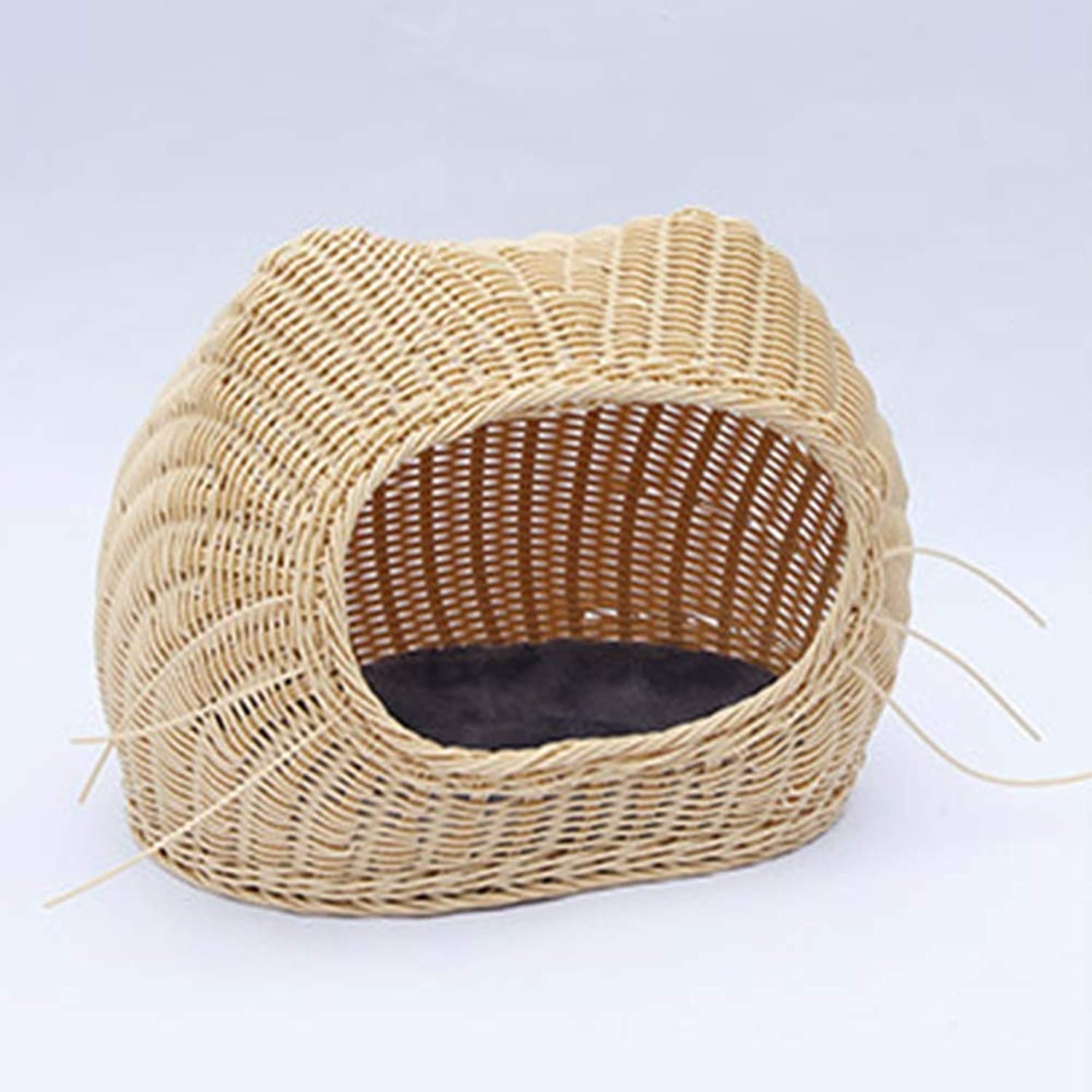 GGGGG Beard kennel, washable and simple small Teddy kennel rattan pet nest