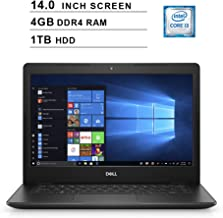 2019 Newest Premium Dell Inspiron 14 3000 Laptop (Intel Core i3-8145U up to 3.9GHz, 4GB DDR4 RAM, 1TB HDD, Intel UHD 620, WiFi, Bluetooth, HDMI, Windows 10 Home, Black)