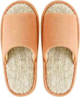 SYLOZ Indoor Slippers Linen Soles Sweat-Absorbent Breathable Home Soft Bottom Non-Slip Slippers Spring Summer Slippers (Color : Orange, Size : 36-37)
