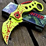 8' ZOMBIE HUNTER Karambit Claw G'Store Blade SPRING ASSISTED OPEN Folding Pocket Knife