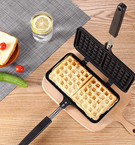 Waffle Pan Non Stick Waffle Maker,13 x 8.5 Inch Waffle Mold for Waffles Toaster, Breakfast and More