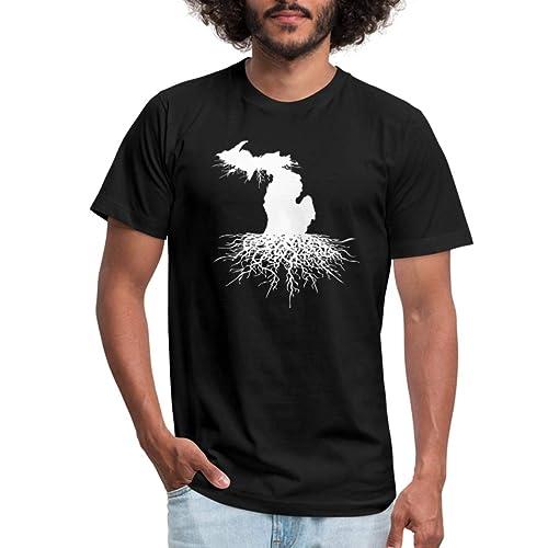 Spreadshirt Michigan Roots Men's Jersey T-Shirt