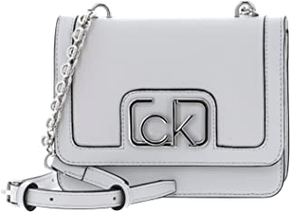 Calvin Klein Flap Shoulder Bag Cement