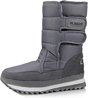 Men and Women's Winter Snow Boot Waterproof Fur Lined Frosty Outdoor Mid Calf Ankle Boots