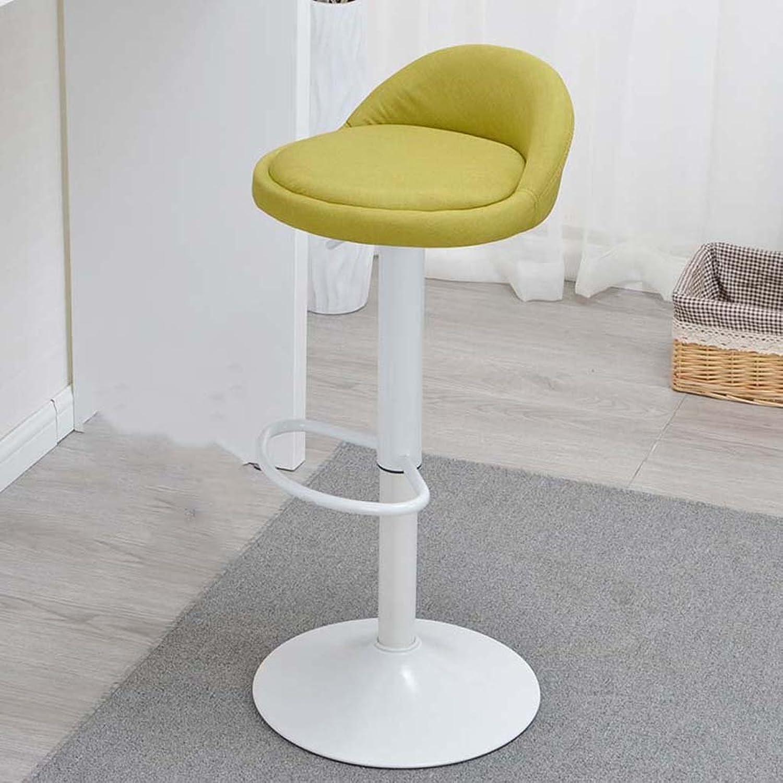 Bar Chair Lift bar Stool Swivel Chair Stool (color   Grass Green)