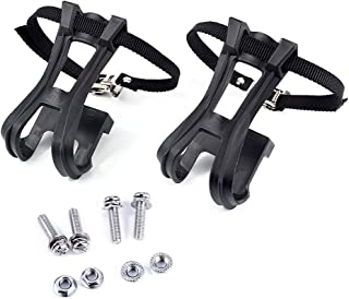 Esnow 1 Pair Toe Clips with Strap Belts Cycling MTB Road Mountain For Bicycle Pedal