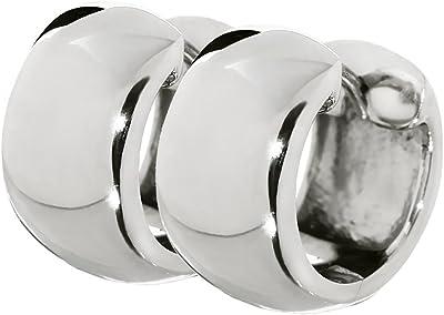 NKlaus Silber Paar 925er Sterlingsilber Klappcreolen Ohrringen 14 x 7,4mm anlaufgeschützt 4811