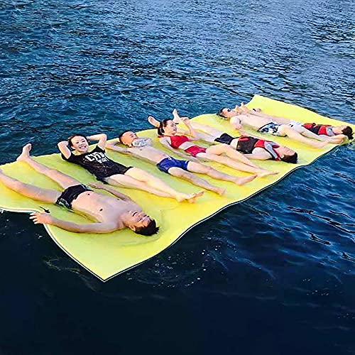 73HA73 Floating Pad Summer Super Large Outdoor Water Mat Tear-Resistant XPE Foam Swimming Pool Water Blanket Float Island Bed