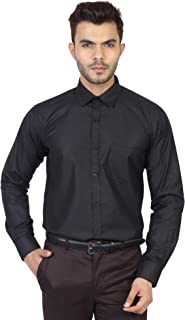 MANQ Men's Solid Regular Fit Formal Shirt - 10 Colors