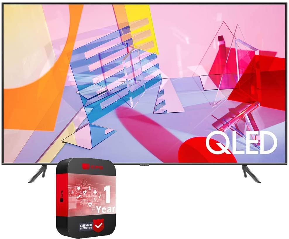 SAMSUNG 55 inch QN55Q60TAFXZA Class Q60T QLED 4K UHD HDR Smart TV 2020 Bundle with Support Extension