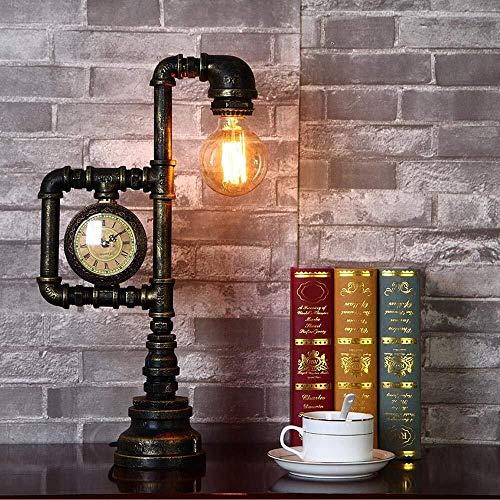 Faus Koco Creativo, Industrial, Clásico, Vintage, Loft Oxidado del Tubo del LED Lámpara De Escritorio De Diseño For La Decoración, Cafetería, Sala De Estar